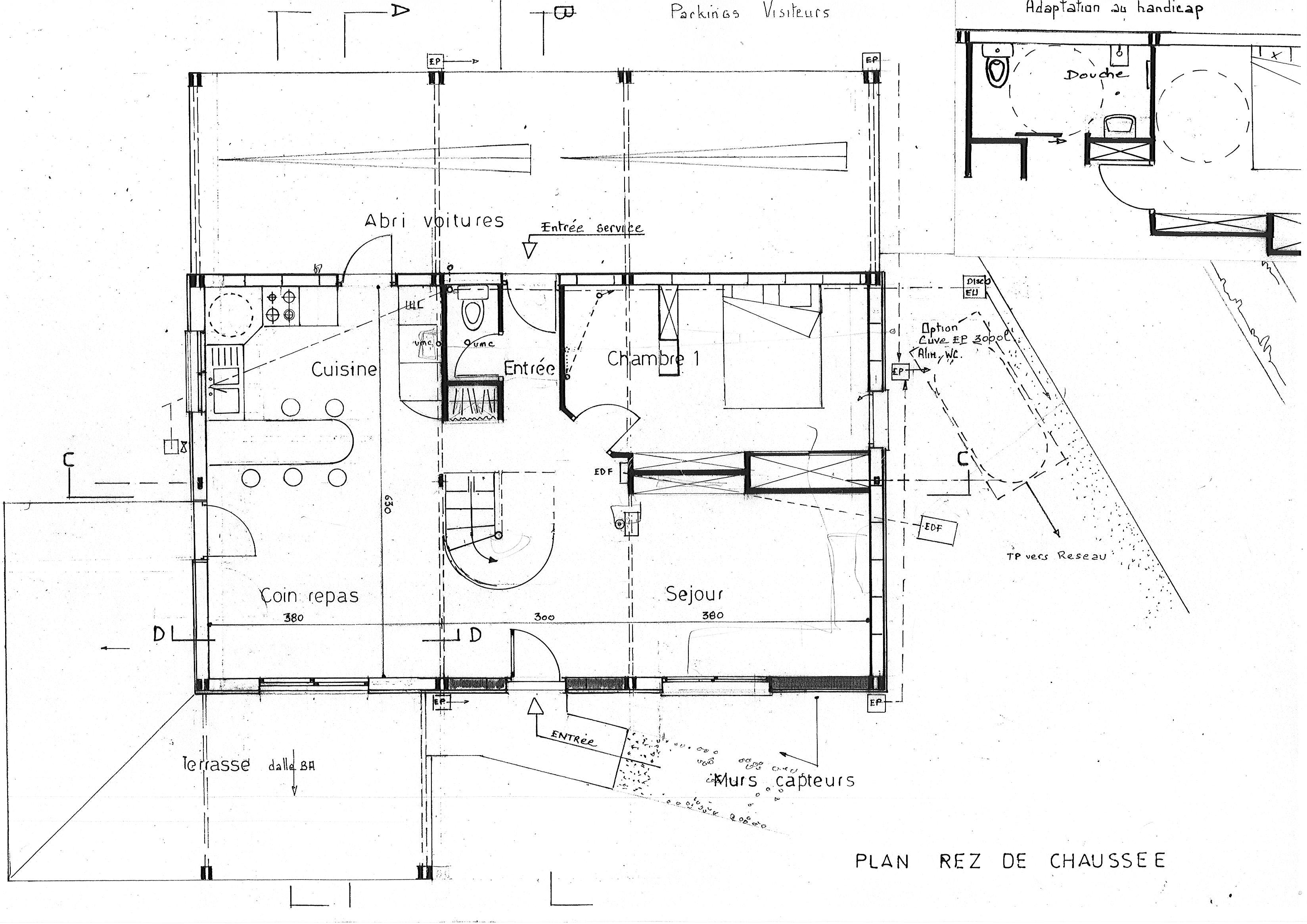 Plan d installation de chantier maison individuelle for Plant d une maison